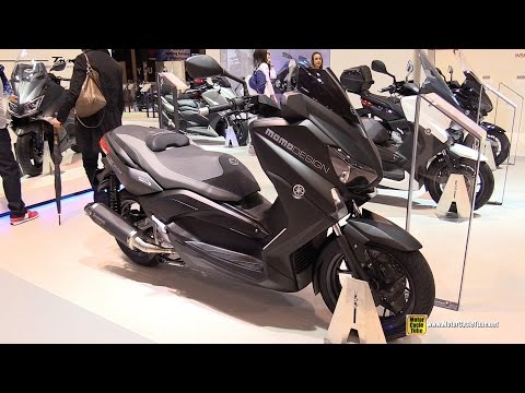 2015 Yamaha X-Max 250 Momo Design Scooter - Walkaround - 2014 EICMA Milan Motorcycle Exhibition