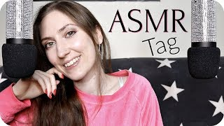 ASMR Pure Close up Whispering 💕 The ASMR Tag (25 Questions Challenge) 💕