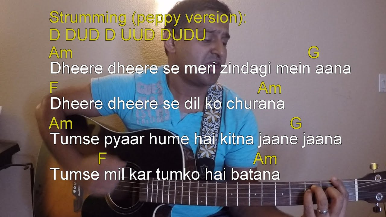 Dheere Dheere Se Guitar Lesson Cover Yo Yo Honey Singh Be 001