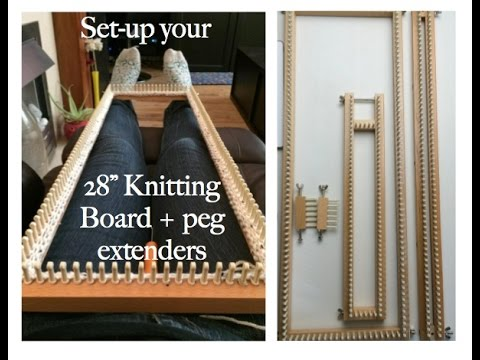 How To Configure 28 Knitting Board Peg Extenders Loom Youtube
