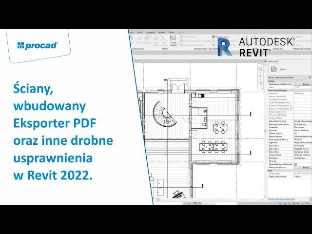Ściany, wbudowany Eksporter PDF oraz inne drobne usprawnienia w Revit 2022  | NetCafe