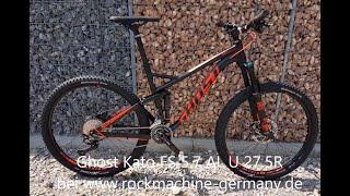 Ghost Kato FS 5 7 AL U 27 5R Fullsuspension Mountain Bike 2018 schwarz