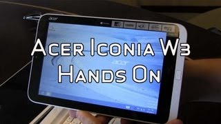Acer Iconia W3 8 Windows 8 Tablet with Keyboard Dock Hands On