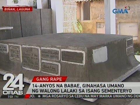 24 Oras: 14-anyos na babae, ginahasa umano ng walong lalaki sa isang sementeryo