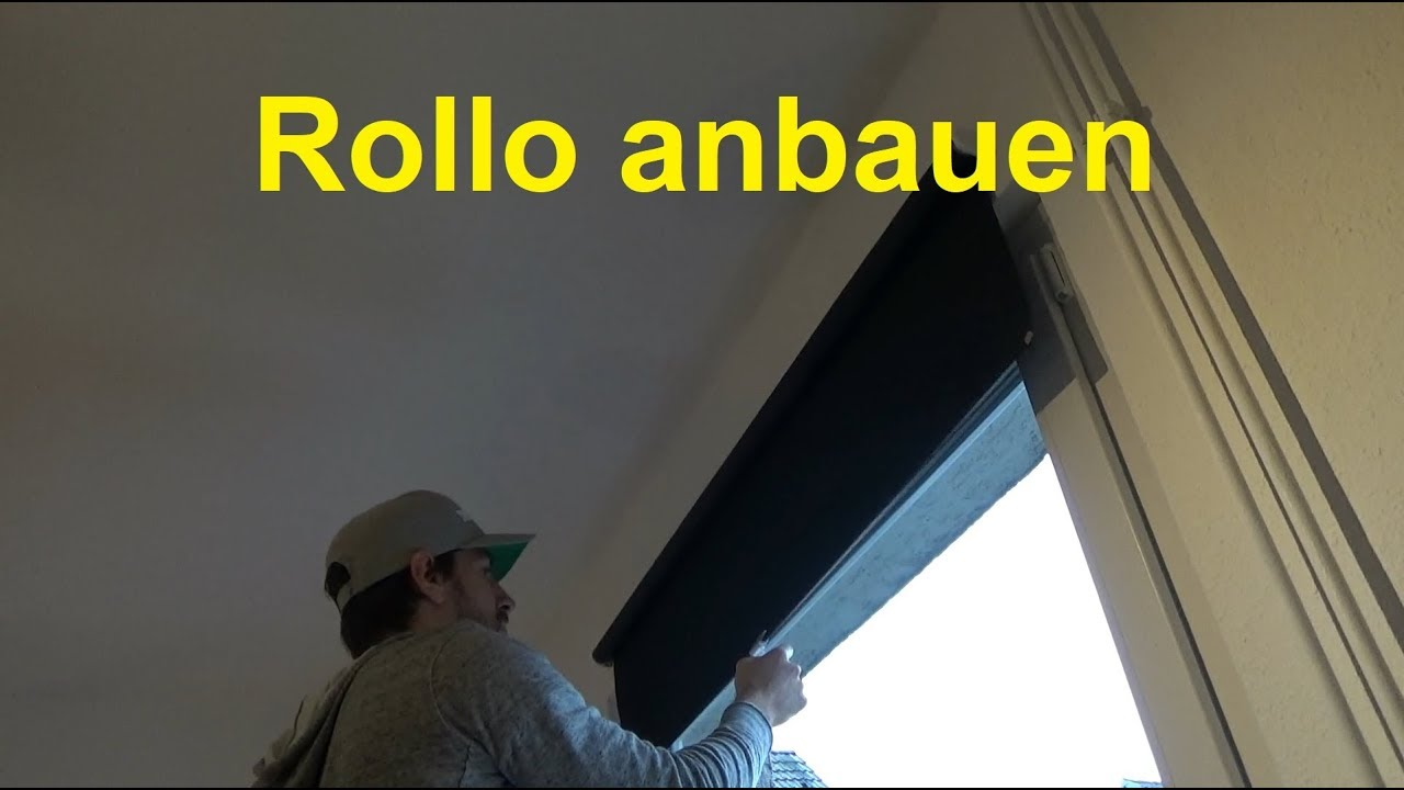 anleitung rollo anbringen rollo montage rollo anbauen youtube. Black Bedroom Furniture Sets. Home Design Ideas