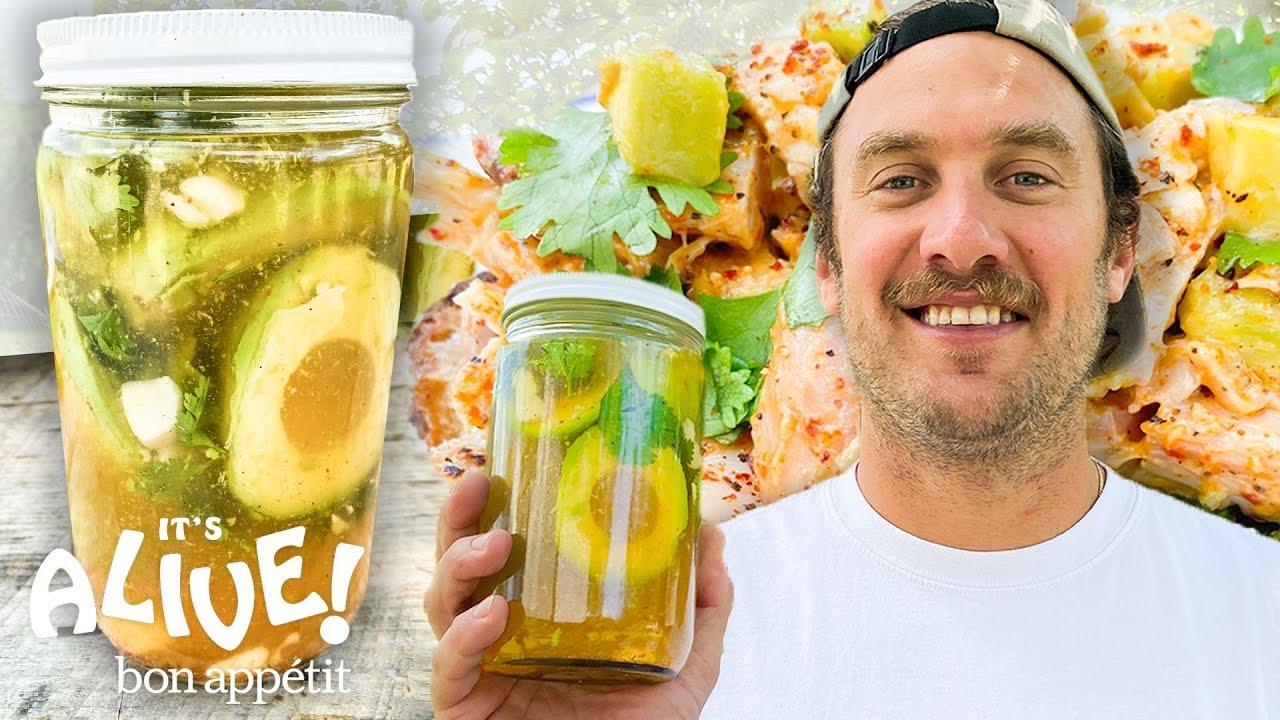 Brad Makes Pickled Avocado   It's Alive   Bon Appêtit