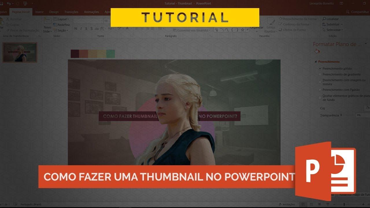 Como fazer uma thumbnail no powerpoint tutorial youtube como fazer uma thumbnail no powerpoint tutorial ccuart Gallery