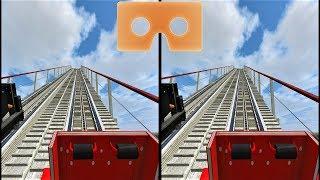 VR 3D video Roller Coaster 11 Американские Горки для VR очков 3D SBS VR box