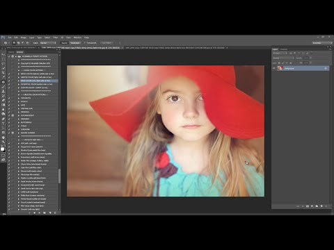 Florabella Trinity Photoshop Actions Video #8 - Rich Warm Hazy Foggy Light