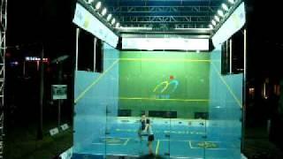 Hong Kong Squash Open 2008 Women Semifinal,  Rachel Gringham vs Natalie Grinham 3rd game