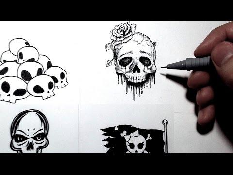 Le cruel challenge des 3 marqueurs d fi doovi - Tete de mort facile a dessiner ...