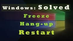 Windows Freeze Hang up Restarts SOLVED: NVIDIA Issues (Windows 10, 8, 7)