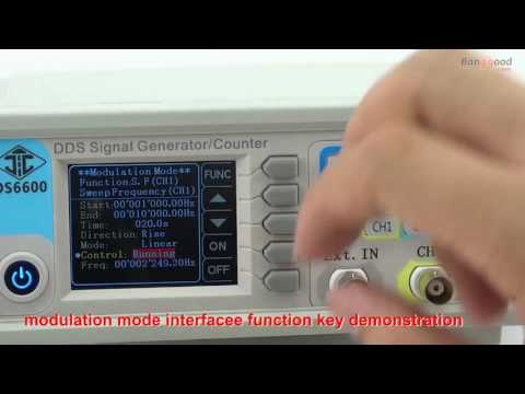 Operation and Test  RD JDS6600 Series Dual channel DDS Signal Generator