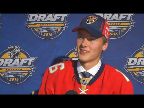 Florida Panthers first-round pick Henrik Borgstrom on being drafted