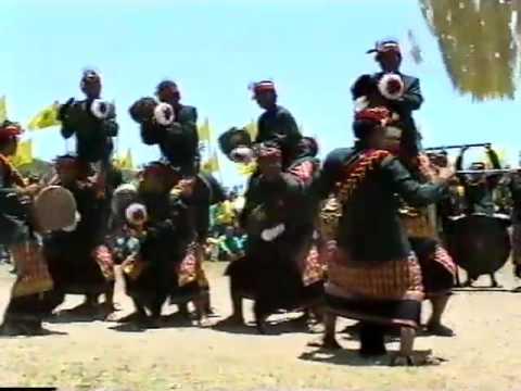 Gamelan beleganjur contest performance, Bali, Indonesia, 2005
