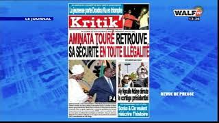 La revue presse lue et commentée en français par Ramatoulaye Sarr