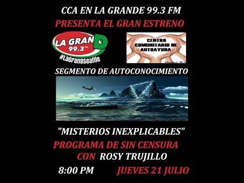 CCA EN LA GRANDE 99.3 FM (Programa de radio July 21, 2016)