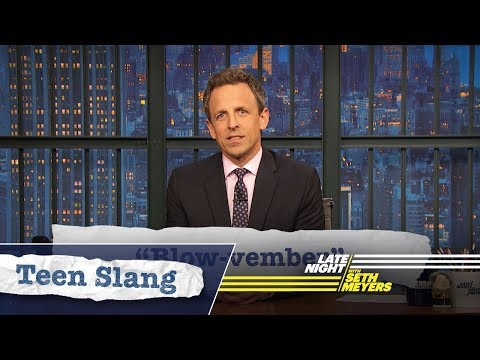 Seth Explains Teen Slang (Thanksgiving Edition): Mayflower, Blow-vember