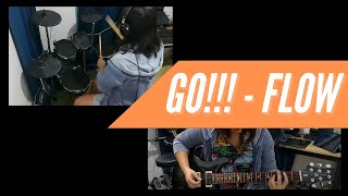GO!!! (Fighting Dreamers) - Flow [NARUTO OP]   Drums & Guitar Cover