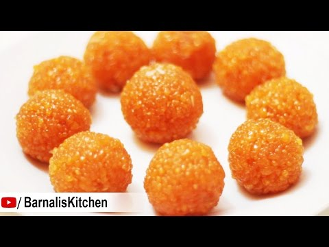 Motichoor Ladoo Recipe - Perfect homemade Motichur Ladoo - Indian sweets - Ganesh chaturthi recipes