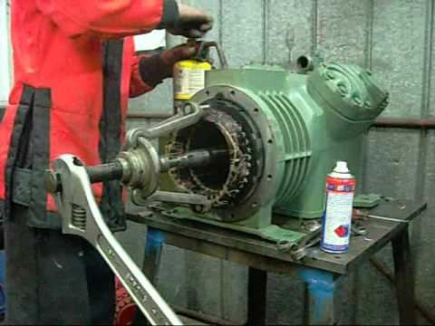 Bitzer V4 Semi-Hermetic Compressor Motor End Pt2 - The Stator wmv