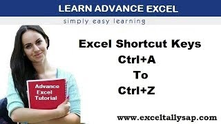 Excel Shortcut Keys (Ctrl+A To Ctrl+Z)