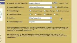 Online Newspaper - Historic Missouri Newspaper Project