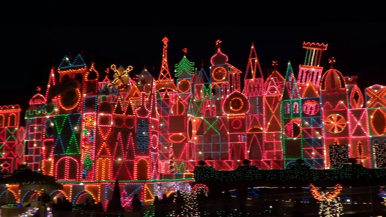 Its A Small World Holiday Full Ride 2015 At Disneyland