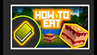 TUTORIAL!!! HOW TO EAT???*** IN PrimalCraft  (with Skins Export to Minecraft)