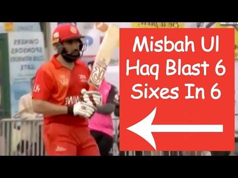 Misbah Ul Haq Blast 6 Sixes In 6 Balls | Hongkong T20 Blitz 2017 || 37 Balls - 82 Runs
