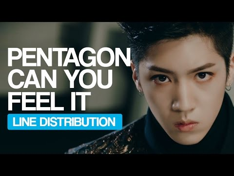 PENTAGON - Can You Feel It Line Distribution (Color Coded)