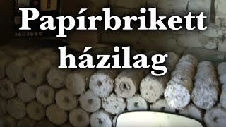 Repeat youtube video Papírbrikett házilag - Emberiseg.hu