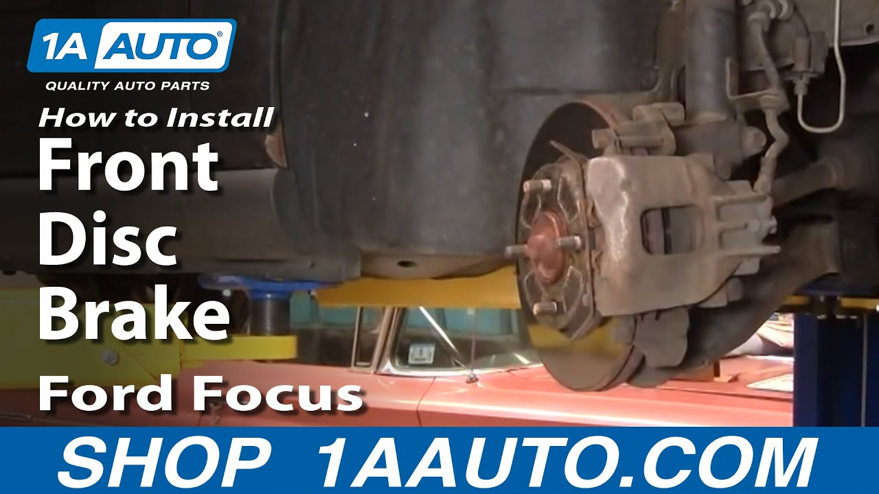 How To Replace Repair Install Front Disc Brakes Ford Focus 00 04 All Info About Auto Brake Mechanical Force Diagram 1aautocom
