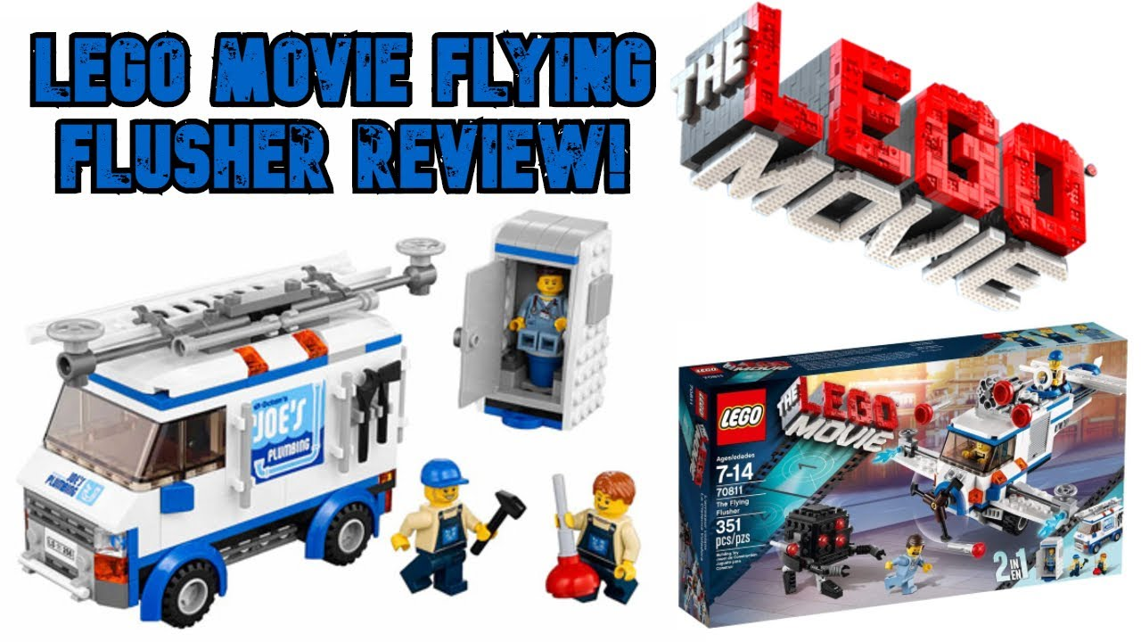 Lego Movie The Flying Flusher 2 In 1 Set From 2013 Youtube