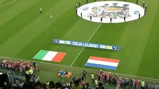 Calcio. Italia-Olanda allo Juventus Stadium: ingresso in campo e inni nazionali