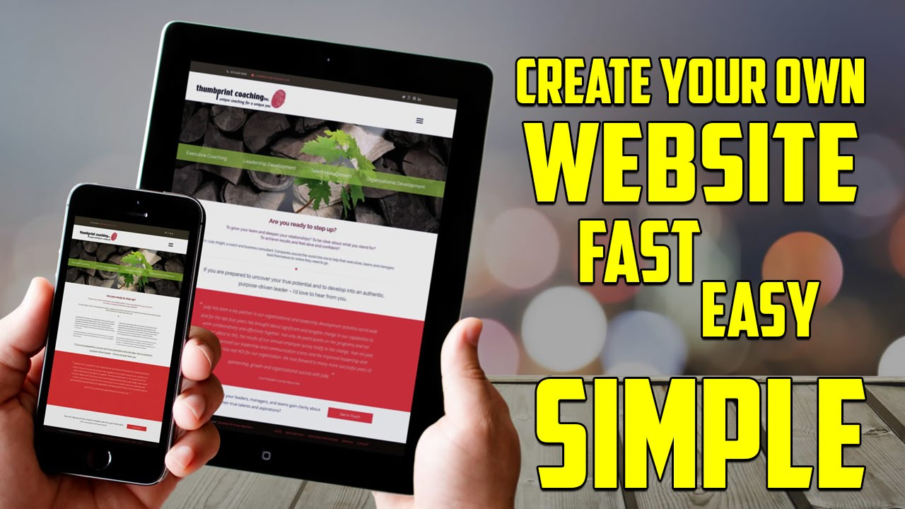 how to create your own website top easy ways to create how to create your own website top 5 easy ways to create website