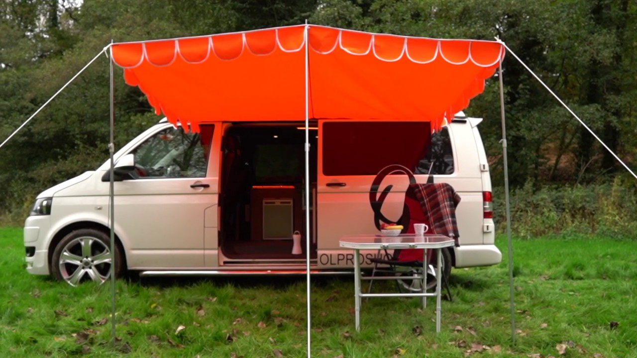 Retro sun canopies for your c&ervan - the OLPRO Shade. New for 2019. & Retro sun canopies for your campervan - the OLPRO Shade. New for ...