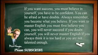 Best English Lessons: Lesson 5: Believe in yourself