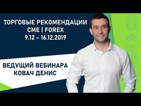 Торговые рекомендации FOREX | CME от Ковача Дениса 9.12 - 16.12.2019