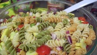 Rotini Pasta Salad W Italian Dressing & Summer Squash