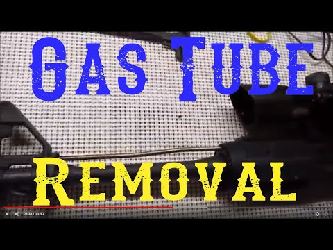 How to remove the gas tube on an AR15/M4
