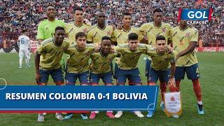 Colombia Sub-23 vs Bolivia Sub-23 (0 - 1): goles, resumen y mejores acciones del partido