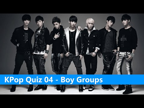 KPop Quiz 04 - Boy Groups