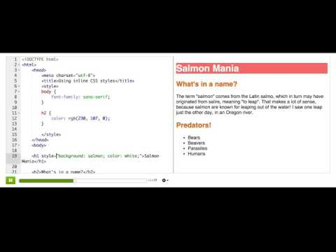 Using inline CSS styles | Intro to HTML/CSS: Making webpages | Computer Programming | Khan Academy
