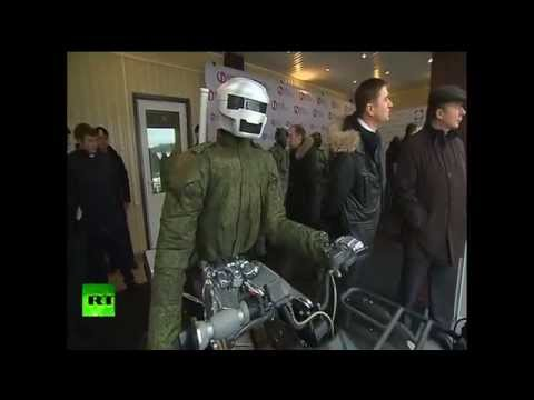 Russian Battle Bot Drives an ATV