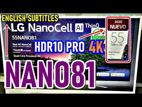 LG NANO81: UNBOXING y REVIEW COMPLETA Smart TV NanoCell ¿Tiene HDMI 2.1? - ENGLISH SUBTITLES