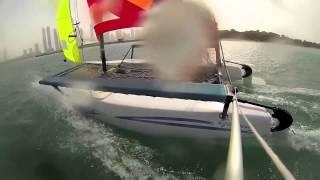 Sailing Hobie Getaway off Palm Jumeirah, Dubai