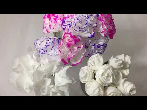 How To Make Tissue Paper Flower - DIY Paper Craft
