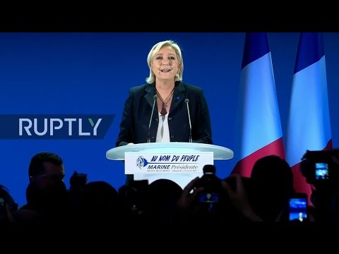 LIVE: French 2017 presidential elections - Le Pen's electoral night event