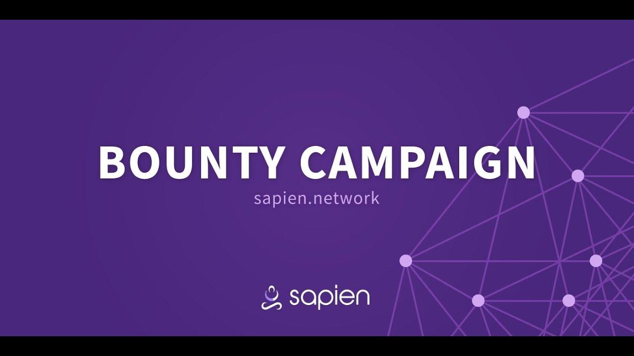 Как участвовать в Баунти Sapien Пошаговый разбор Баунти кампании